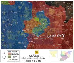 Syria War Map by Day Of News On The Map September 23 2016 Map Of Syrian Civil