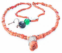 coral beads necklace images Antique berber red coral beads necklace jpg