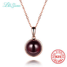 sted necklaces l zuan 925 sterling silver 5 41ct garnet