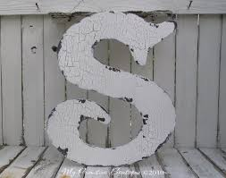 Shabby Chic Vintage Home Decor Wooden Cut Out Letter S Shabby Chic Decor Vintage Letters