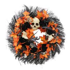 Halloween Wreaths Michaels by Shop For The 28 U201d Large Handcrafted Halloween Skull And Black Rose