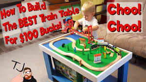how to build a simple train activity table for kids youtube