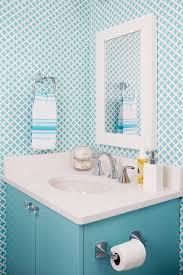 blue quatrefoil wallpaper blue powder room with blue quatrefoil wallpaper contemporary