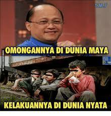 Indonesian Meme - omongannya di dunia maya meme comic kelakuannya di dunia nyata