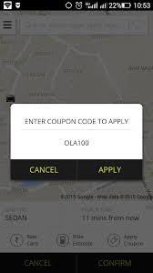 ola cabs referral coupon code 67a0znu for new user oct 2017