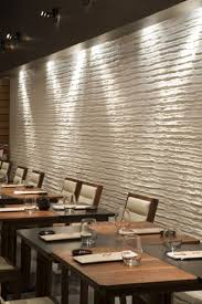 Livingroom Restaurant Restaurant With Unique White Embossed Wall Treatment Decoration