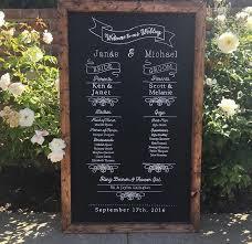 wedding program chalkboard rustic wedding program ceremony order wedding party framed