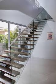 floating stairs with tempered glass stair railng buy floating
