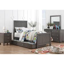 Dresser Bedroom Furniture by Quiz Grey Bedroom Bed Dresser U0026 Mirror Twin 33574 Bedroom