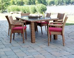 Rattan Patio Dining Set Patio Wicker Dining 7 Set Santa Barbara