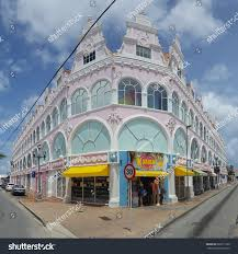 oranjestad aruba july 25 2017 downtown stock photo 687611569