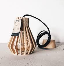douille en bois lampe suspension abat jour pendentif cage diamant en