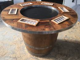 top wine barrel table artistic color decor excellent and wine