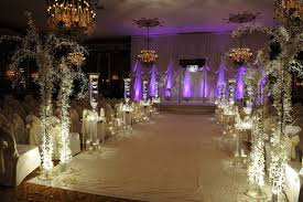 crystal wedding decoration with touches of orchids crystals