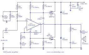 40w audio amplifier electronic circuits and diagram electronics