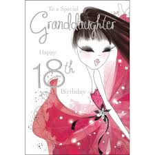 special granddaughter 18th birthday card karenza paperie