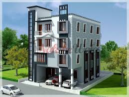 multi storey residential buildings 3d front elevation design