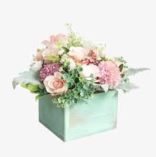 bureau de logement ensemble de simulation de décoration de fleurs motif de