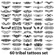 60 various tribal tattoos royalty free cliparts vectors and