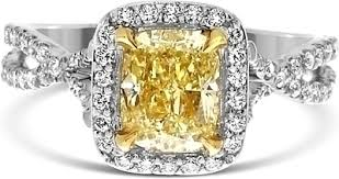 fancy yellow diamond engagement rings 1 42ct cushion cut fancy light yellow diamond engagement ring