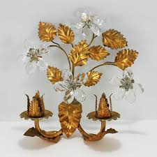 Crystal Candle Sconce Antique Crystal Candle Holders With Prisms Candles Decoration