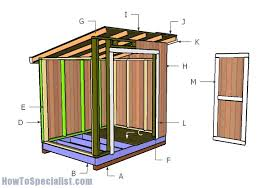 How To Build A Lean To Shed Plans by 6x8 Lean To Storage Shed Plans Howtospecialist How To Build