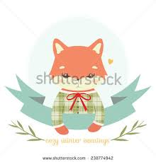 fox ribbon baby fox stock images royalty free images vectors