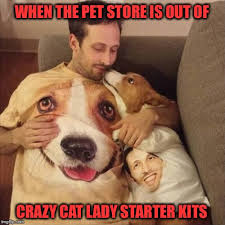 Crazy Dog Lady Meme - forever alone imgflip