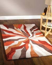 Grey And Orange Area Rug Orange And Gray Striped Rug Rug Designs