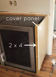 How To Cover Kitchen Cabinets by Built In Beverage Center Simply Swider
