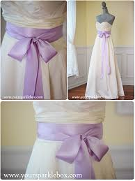 Wedding Dress Sashes Lavender Bridal Sash