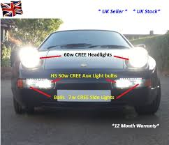 porsche 928 front end cree led bulb upgrade kit cree led lights