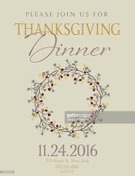 thanksgiving party invite elegant fall dinner party invitation template vector art getty