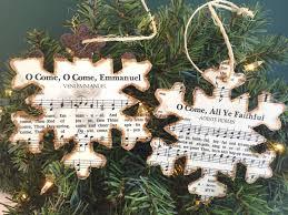 christmas music ornaments christmas sheet music ornaments rustic