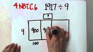 4 nbt b 6 whole number division with open area model youtube