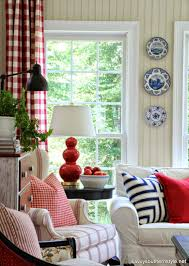 savvy southern style remembering red white and blue decor in my home in the past since i can t share my summer sunroom quite yet seeing how it is filled with deck paraphernalia