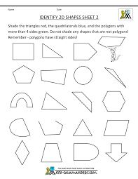 free second grade math geometry worksheets on reference with free