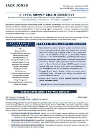 Resume For Supply Chain Executive Resume Examples Cv Sample Resume Templates Rso Resumes