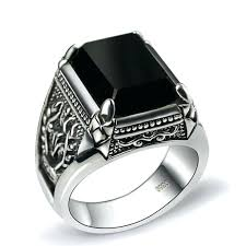 men rings silver images Sterling silver mens rings silver antiqued knot spinner band jpg