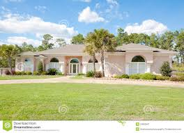 large spanish style ranch home stock image image 24083641