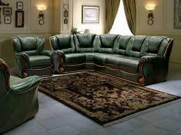 Green Leather Sectional Sofa Amazing Captivating Green Leather Sectional Sofa Chair With Regard