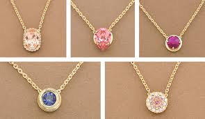 necklace stone setting images Snap button necklace with 5 clip pendant kit jpg