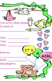 free baby shower invitations for girls template best template