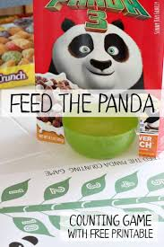 feed the panda counting activity for preschoolers with free