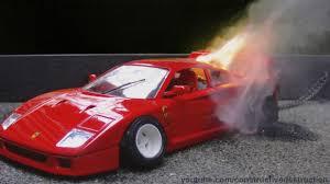 stanced ferrari maisto ferrari f40 toy car burnout and engine fire youtube