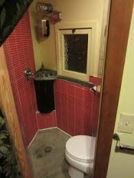 All In One Bathroom Vanity Spice Box Builders Bathroom Detail In Rustic Barn Tiny House
