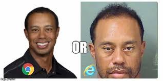 Side By Side Meme - tiger woods side by side memes imgflip