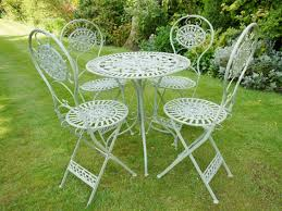 Green Wrought Iron Patio Furniture by Steel And Cast Iron Bristo Set In Green Somerset South West Home