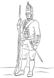 hessian soldier america war coloring history free