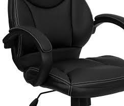 amazon com flash furniture mid back leather contemporary